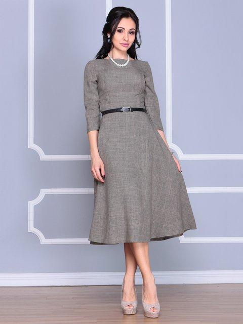 Платье цвета бежевый хаки Laura Bettini 4065032