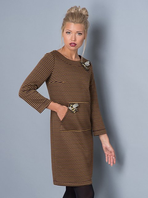 Платье цвета хаки Lesya 3553231