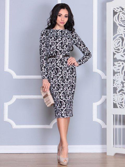Платье в принт Rebecca Tatti 4068478