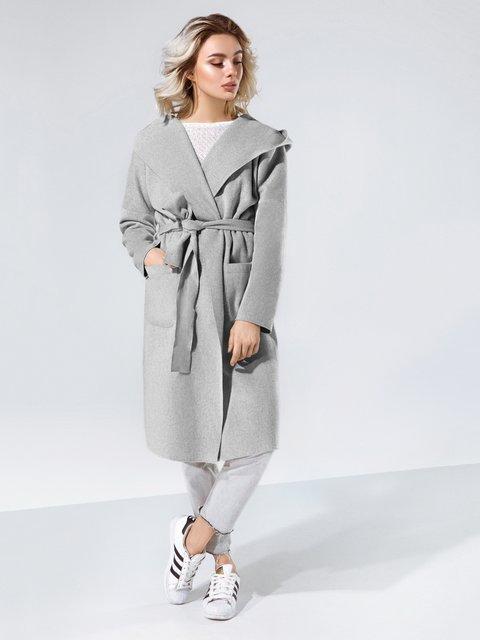 Пальто серое Gepur 4078245