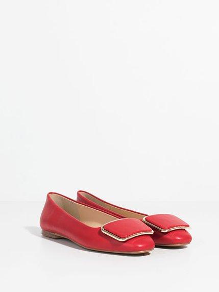 Балетки красные Parfois 4003581