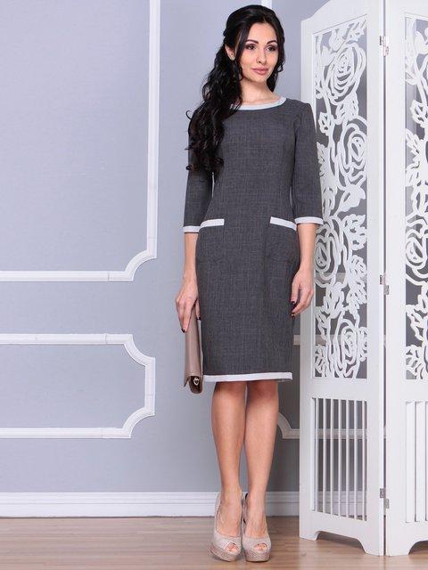 Платье графитового цвета Laura Bettini 4078878