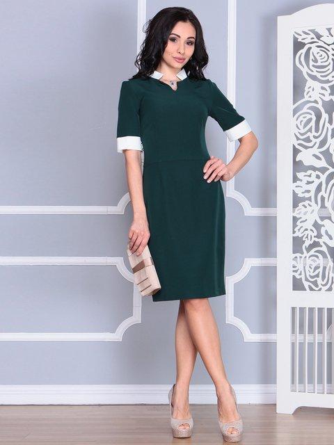 Платье темно-изумрудного цвета Rebecca Tatti 4078937