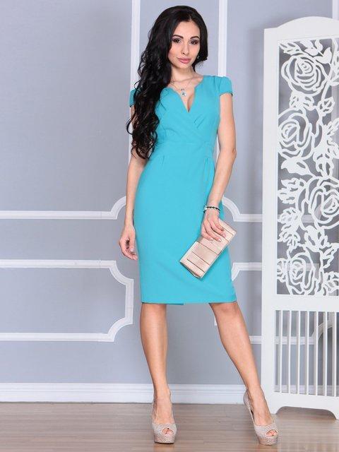 Платье цвета зеленой бирюзы Rebecca Tatti 4078946