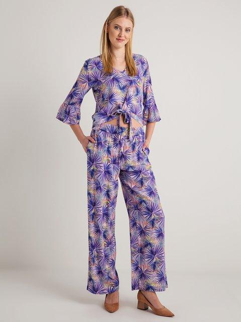 Штани фіолетові в принт BGN 4090170