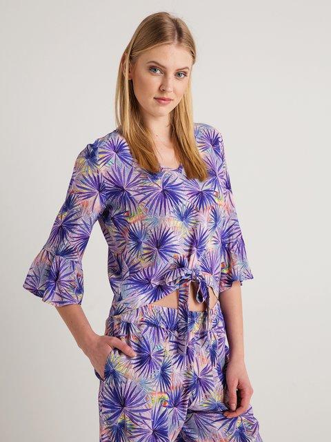 Блуза фіолетова в принт BGN 4090176