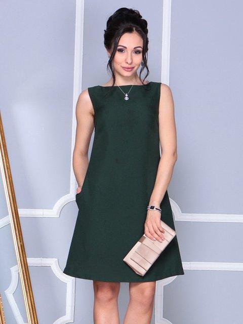 Платье-сарафан темно-изумрудное Laura Bettini 4092858