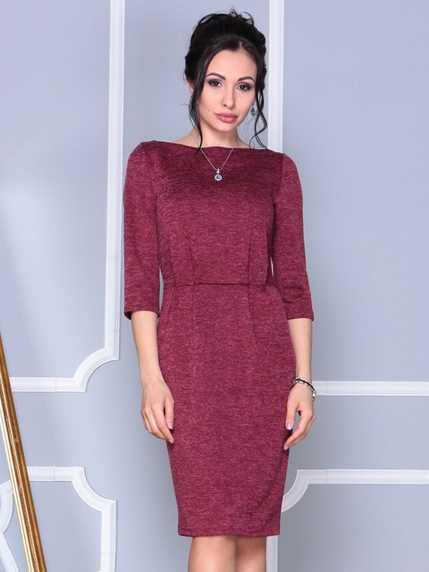 Платье бордовое Laura Bettini 4092871