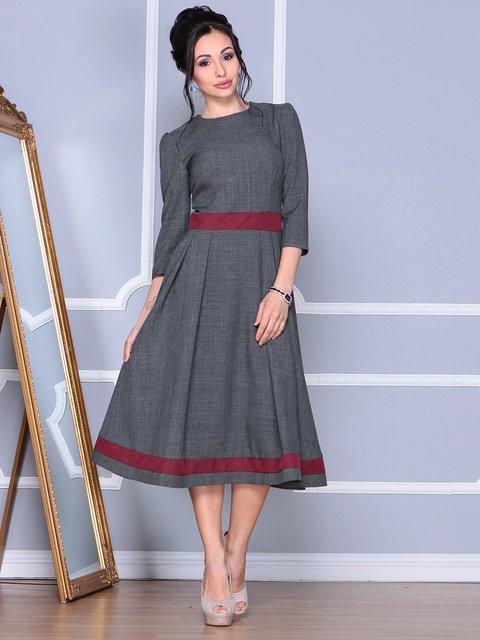 Платье цвета графит Dioni 4092878