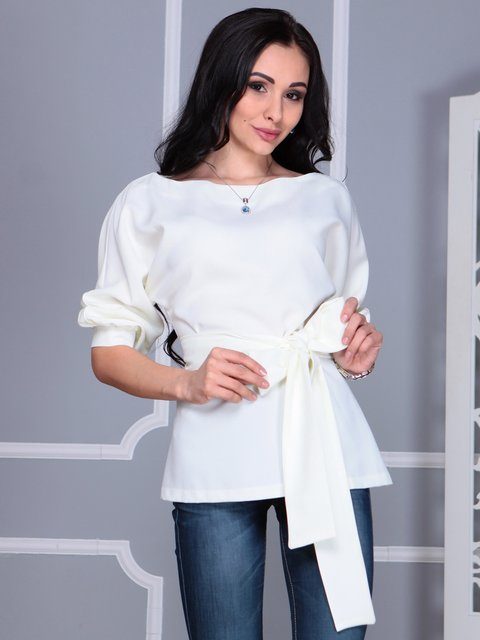 Блуза молочного кольору Laura Bettini 4109514