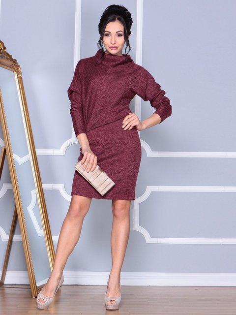 Платье бордовое Rebecca Tatti 4109558