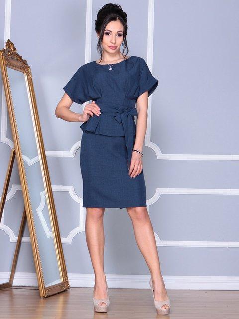 Платье темно-синее Rebecca Tatti 4109571
