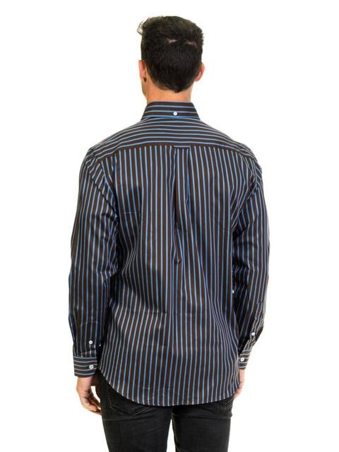 Рубашка черная в полоску McGregor 4105792