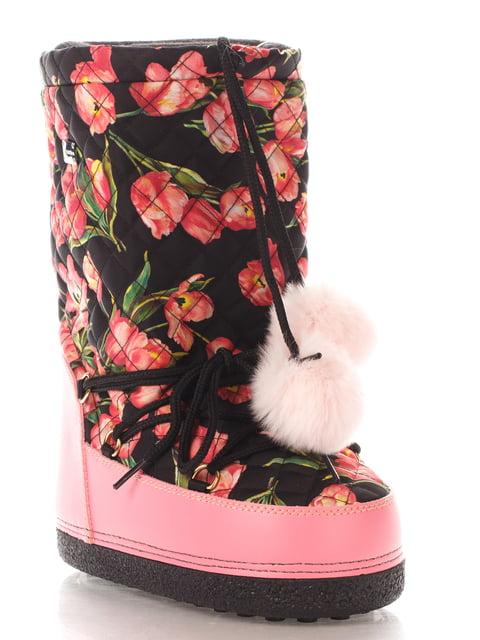 Сапоги в цветочный принт Dolce&Gabbana 4103927