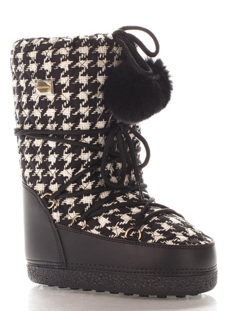 Сапоги в гусиную лапку Dolce&Gabbana 4103929