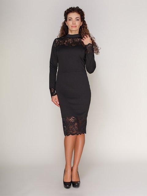 Платье с кружевом черное Marc Vero Maxxi 3821206