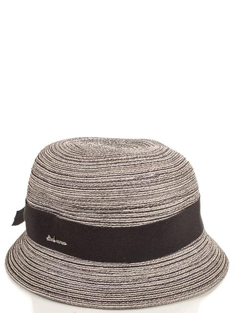 Шляпа бежево-коричневая Del Mare 4125497