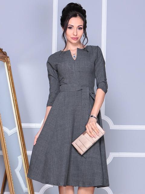Платье графитового цвета Laura Bettini 4127915