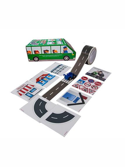 Ігровий набір «Зелений автобус» (українська мова) Трик-Трек 4128706