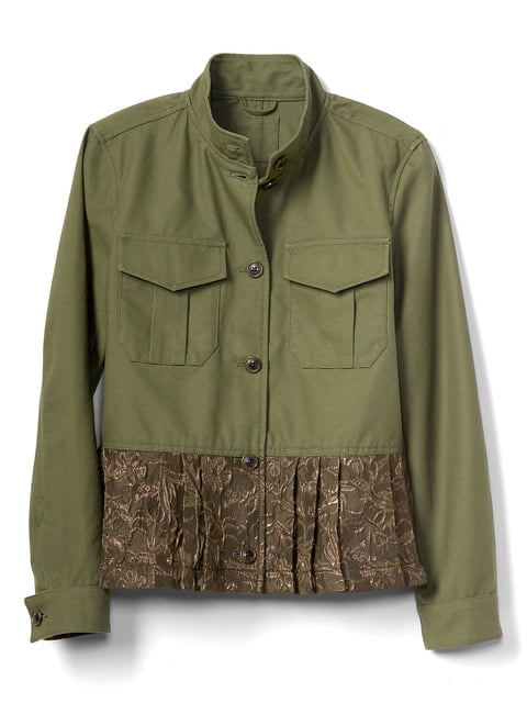 Куртка цвета хаки GAP 4129030