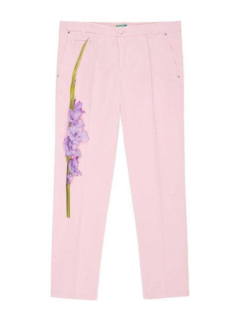 Брюки розовые Benetton 3960194