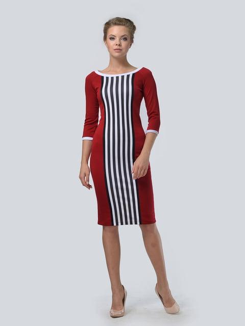Платье красное в полоску LILA KASS 4133168