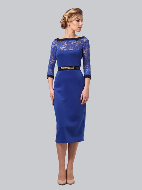 Платье синее LILA KASS 4133263