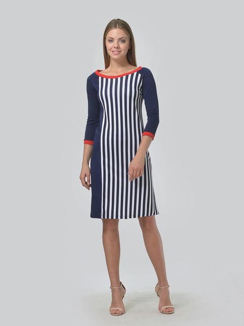 Платье синее в принт LILA KASS 4133284