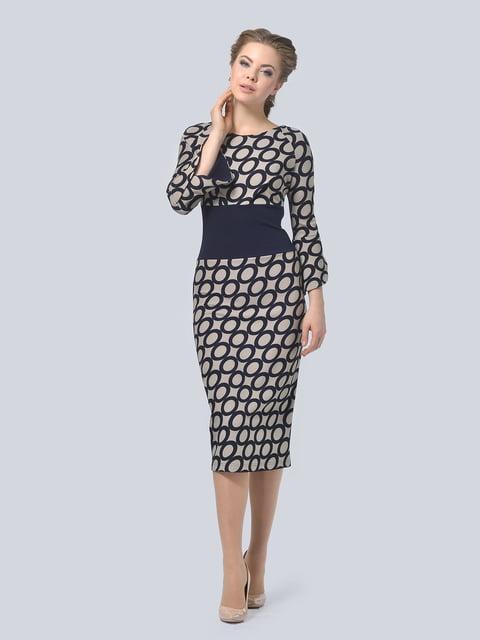 Платье темно-синее в принт LILA KASS 4133296