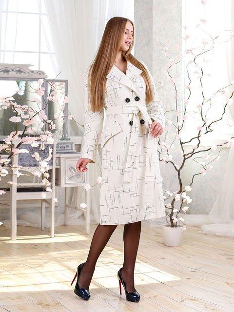 Пальто белое Favoritti 4135176