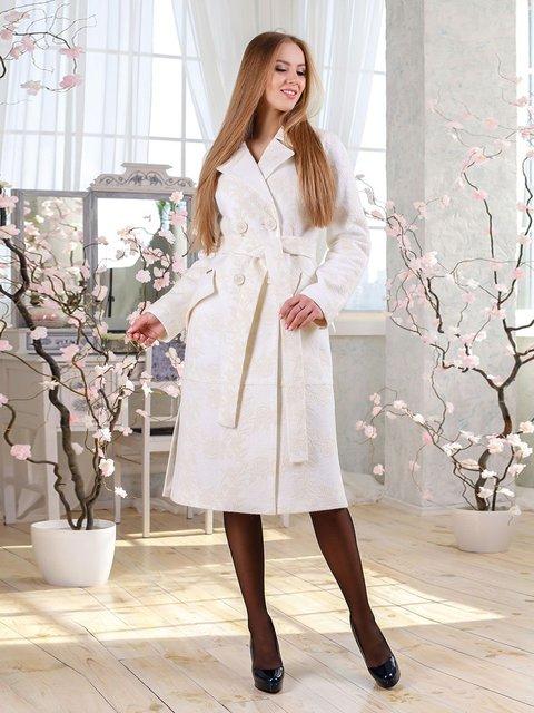 Пальто белое Favoritti 4135177