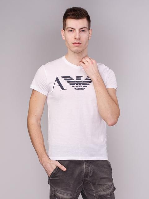 Футболка біла з принтом Armani Jeans 1521688