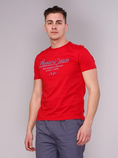 Футболка червона з написами Armani Jeans 2148429