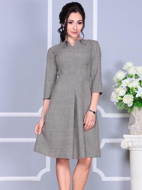 Платье цвета бежевый хаки Laura Bettini 4137079