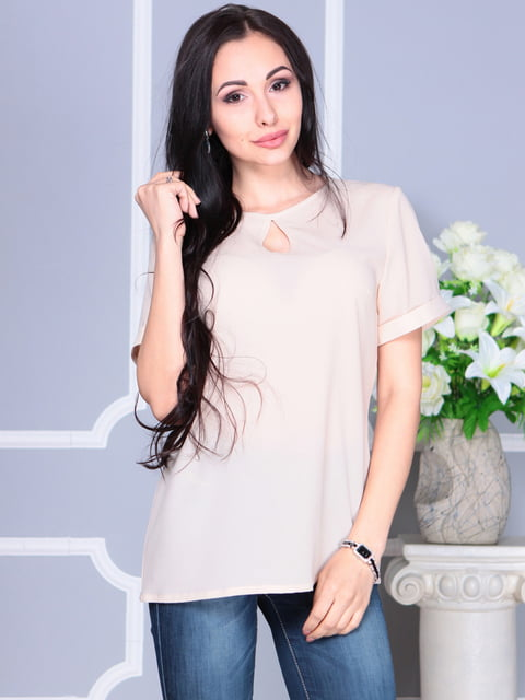 Блуза бежевая Dioni 4137087