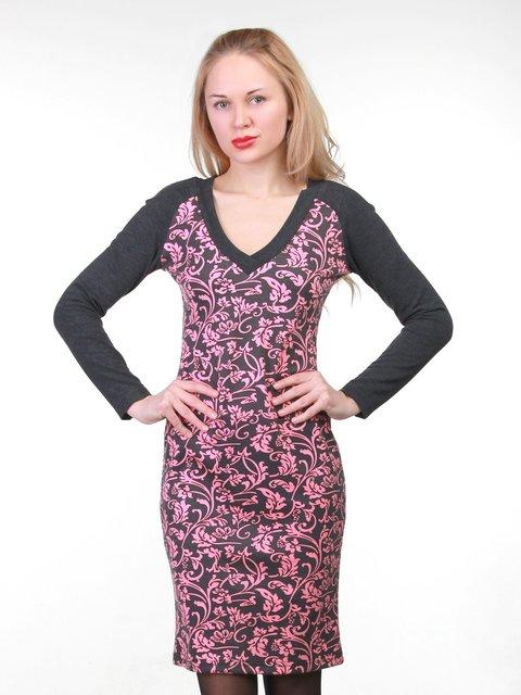 Платье черное в принт MOONLIGHT 3823426