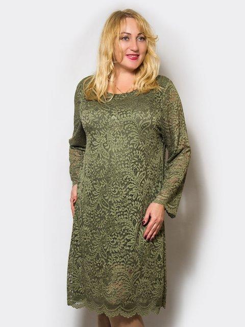 Сукня оливкового кольору LibeAmore 4143958