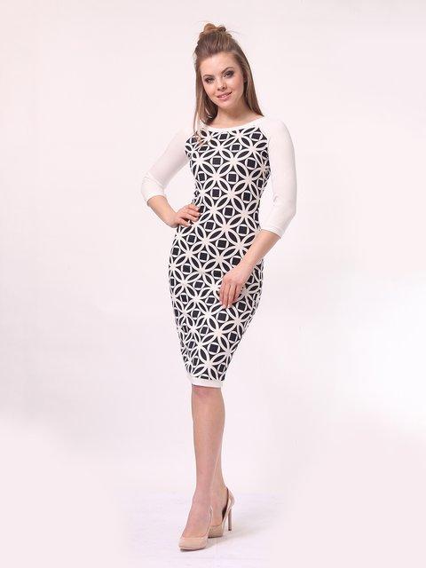 Платье молочного цвета в принт Lada Lucci 4142216