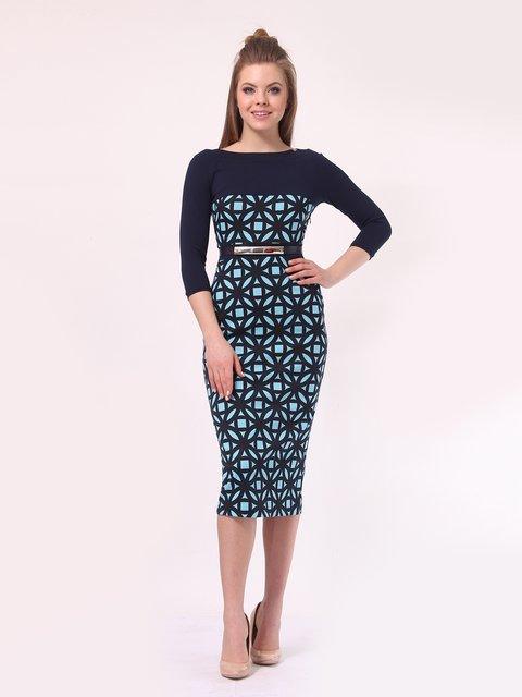 Платье темно-синее в голубой принт Lada Lucci 4142232