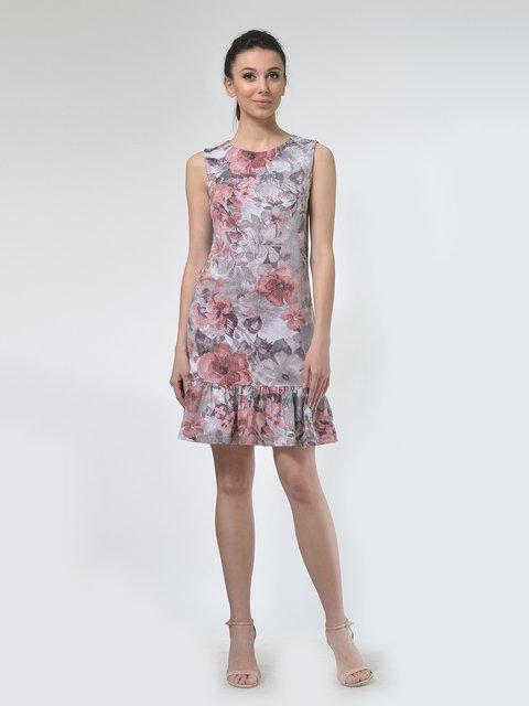 Платье бежевое в цветочный принт AGATA WEBERS 4142250