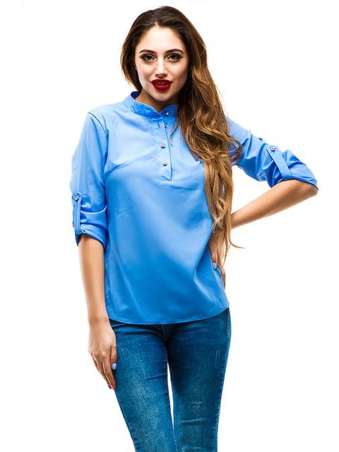 Блуза синяя Exclusive. 4155044