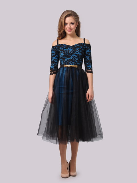 Платье бирюзово-черное AGATA WEBERS 4159771