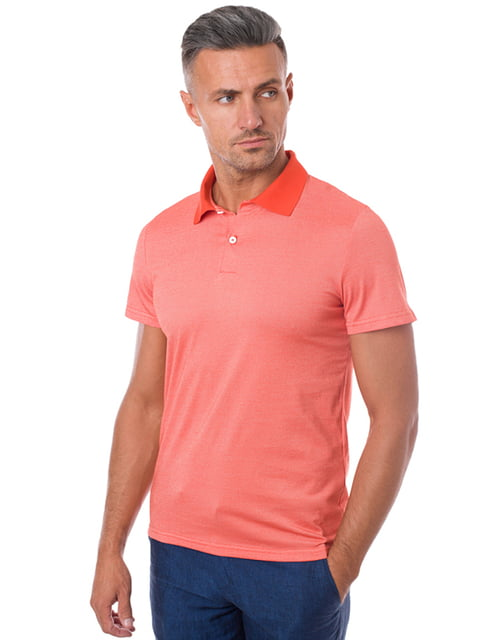 Футболка-поло оранжевая Arber 4159181