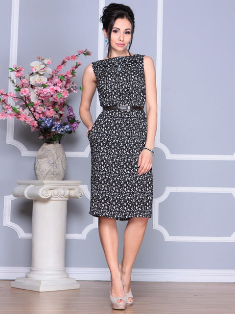 Платье в цветочный принт Laura Bettini 4168847
