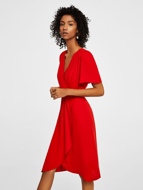 Платье красное Mango 4171637