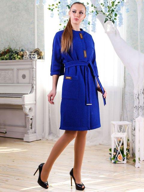 Пальто кольору електрик Favoritti 4176351