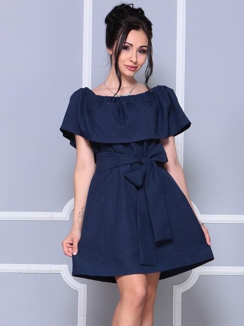 Сукня темно-синя Rebecca Tatti 4178072