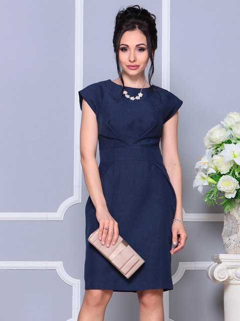 Сукня темно-синя Dioni 4178089