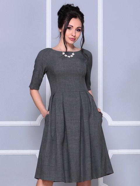 Платье графитового цвета Laura Bettini 4178093