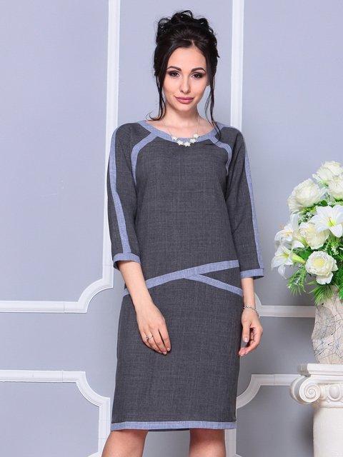 Платье графитового цвета Laura Bettini 4178107